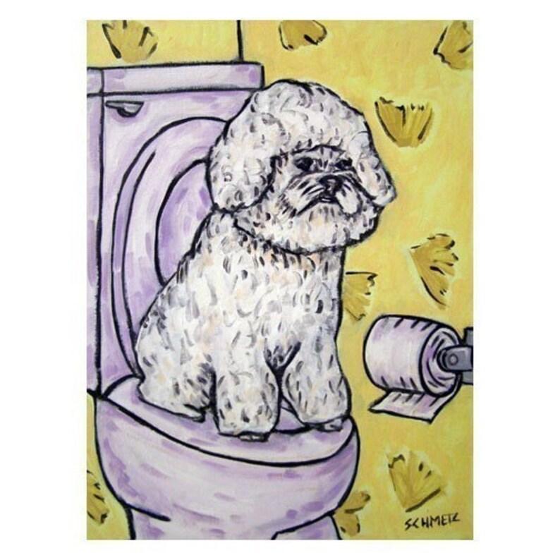 pekingese at the wine bar dog art print 8x10