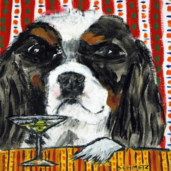 bernese mountain dog coffee cafe art tile coaster gift JSCHMETZ modern folk