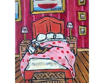 Border Terrier Sleeping Dog Art print