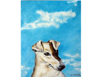 rat terrier note card animal stationary greeting card dog art