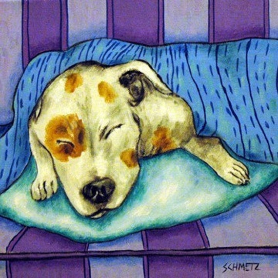 BULL TERRIER dog wine  art PRINT 13x19 animals modern impressionism gift