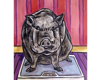 Pig on a Diet Animal Art print