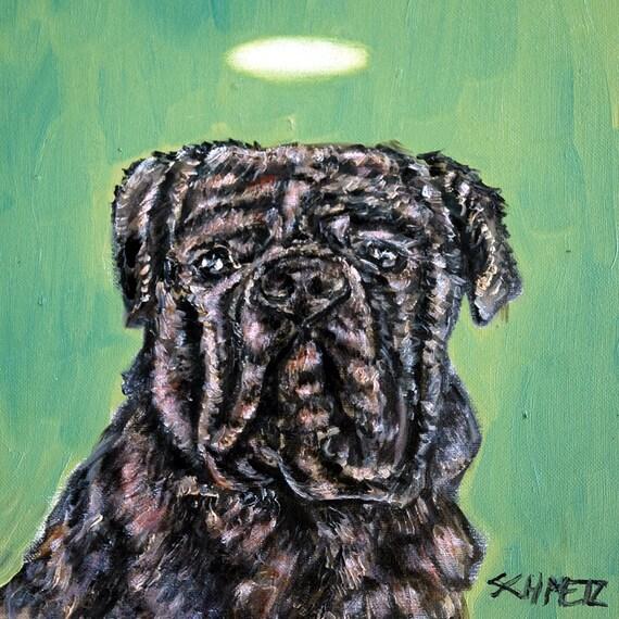 JAck Russell angel dog print on ceramic tile COASTER gift JSCHMETZ pop art