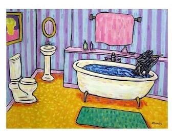 Pig Taking a Bath Art Print