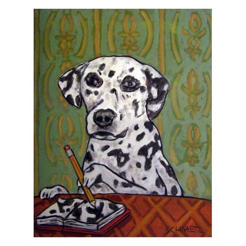 Dalmatian dog art print dog artists from orignal oil painting  by schmetz