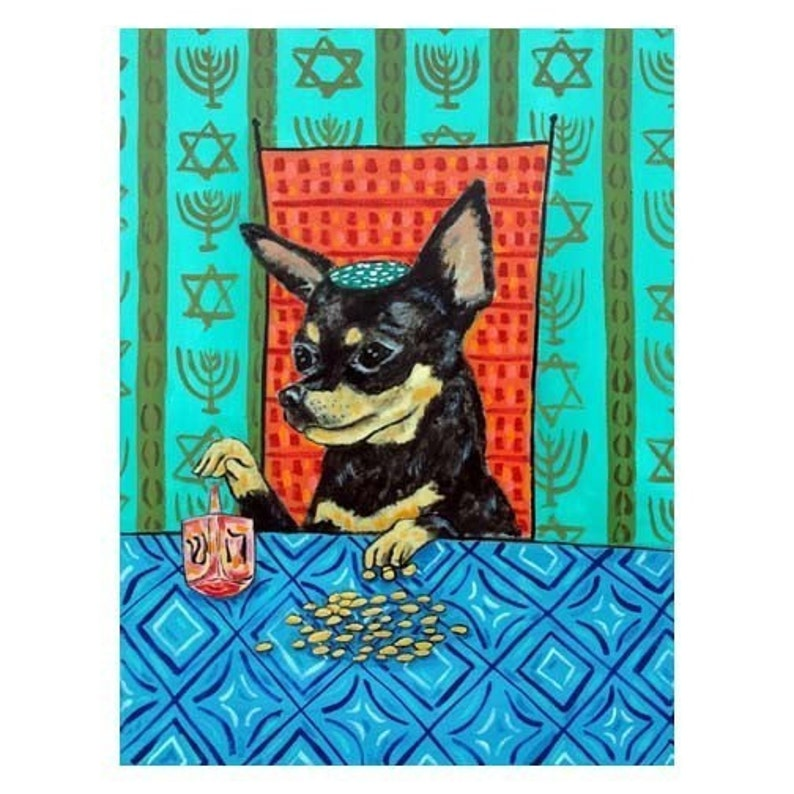 Bull terrier Guitar 8x10  artist PRINT impressionism animals new gift