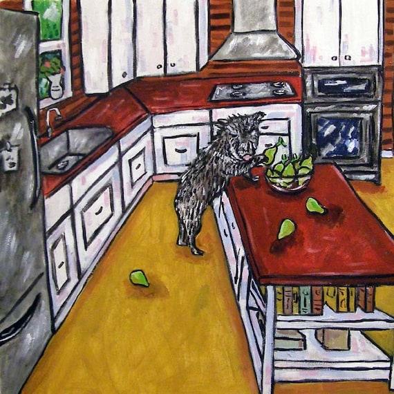 Javelina wine bar picture animal gift art tile coaster