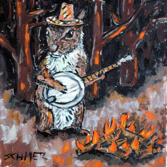Modern Art Squirrel Illustration