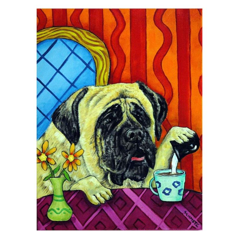 CHIHUAHUA at the wine bar  dog art print gift gifts 11x14