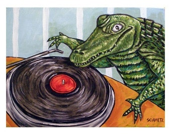 Alligator DJ Art Print