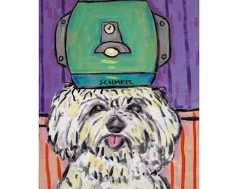 Maltese at the Salon Dog Art Print
