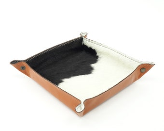 Valet Tray in Hair-On Leather Cowhide