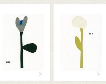 Wish set of four prints