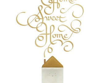 Home sweet home print (by Blanca & Juanjo)