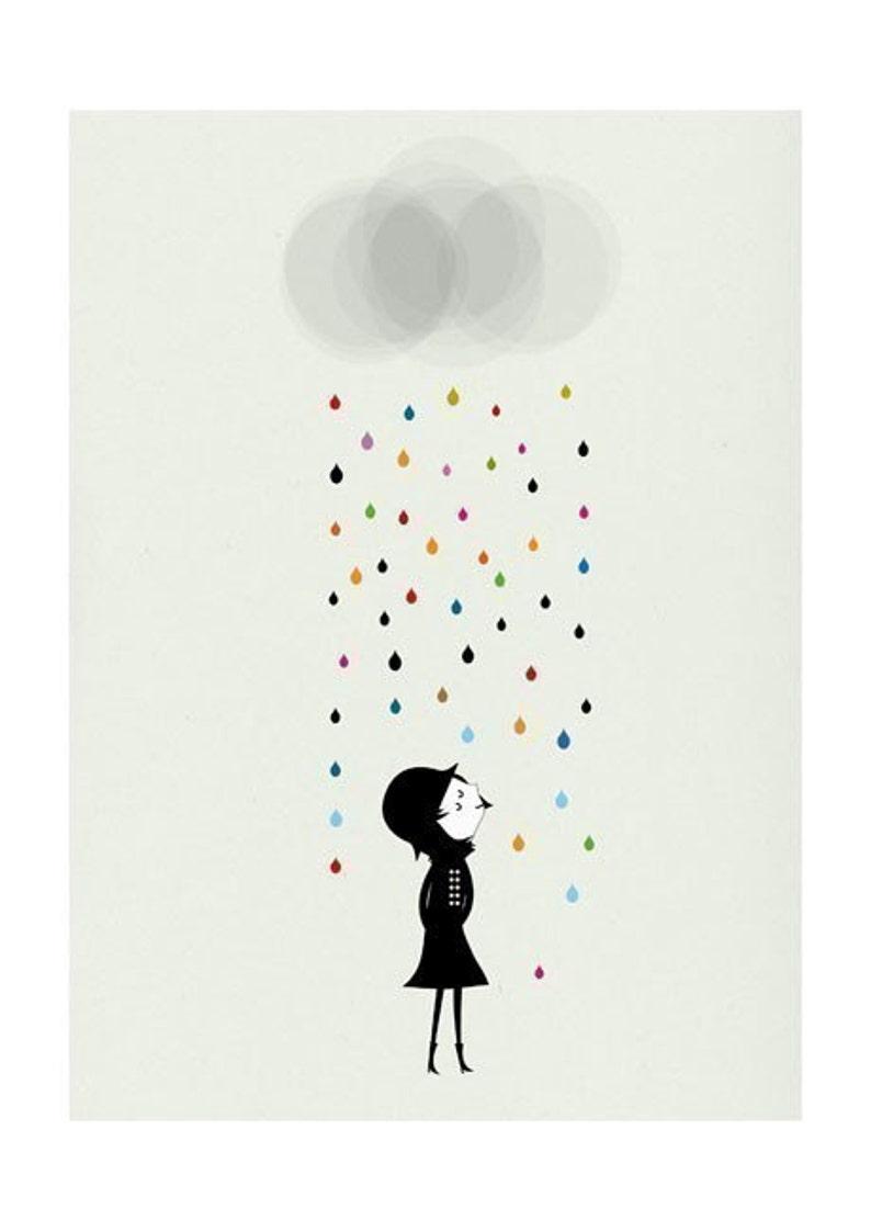 Mademoiselle under the rain print image 0