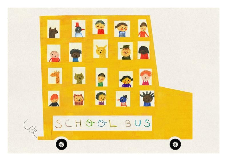 School bus print image 0
