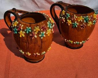 1950s Italian floral jug