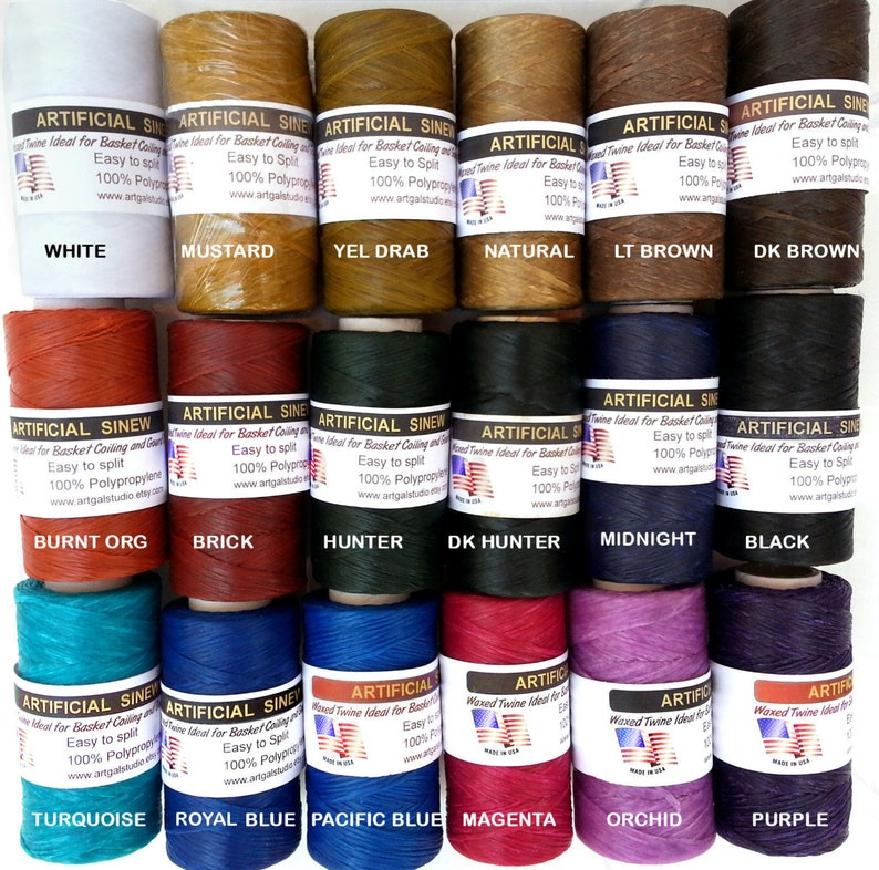Imitation / Artificial SINEW 4 oz Spool Waxed Splittable for image 0