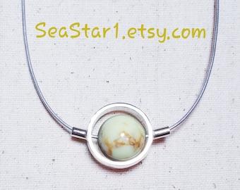 CHRYSOPRASE (LEMON) Stone Sphere Necklace