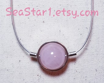 QUARTZ (ROSE) Stone Sphere Necklace