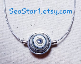 FORDITE (C) - hand-cut -Stone Sphere Necklace