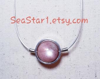 SUNSTONE Stone Sphere Necklace