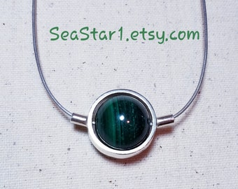 MALACHITE Stone Sphere Necklace