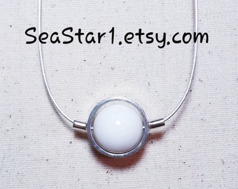 MARBLE (WHITE) Stone Sphere Necklace