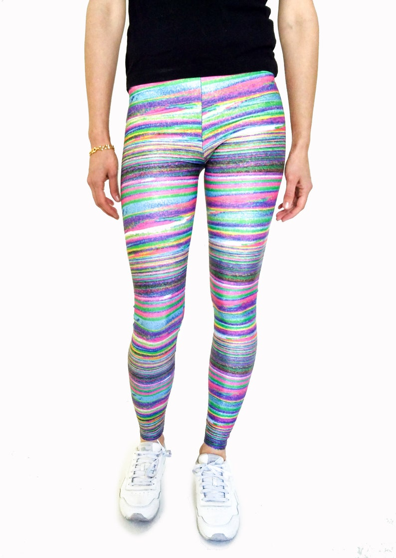c54efe75ce Girly Noise Leggings, Texture Leggings, Festival Tights, Colorful Gym  Leggings, Cool Yoga Pants, Printed Pants, Glitch Tights, Activewear
