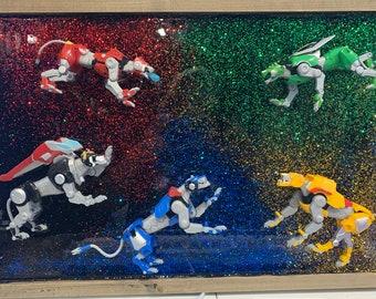 and glitter galaxy artwork by Rita De La Torre Legendary Defender: Universe original resin Cosmos