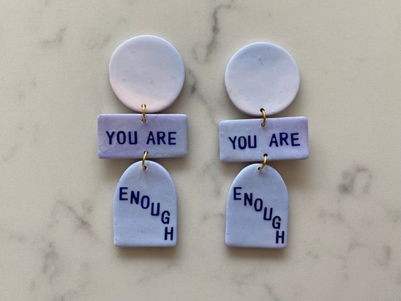 you are enough - blue