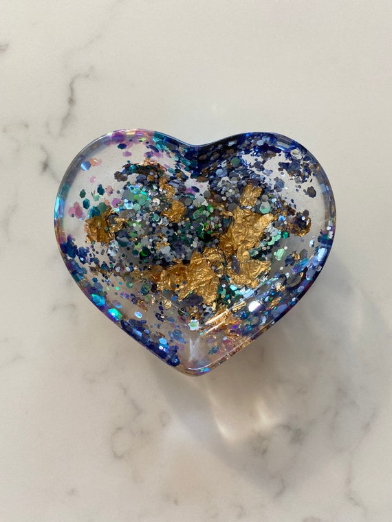 blue heart ring bowl