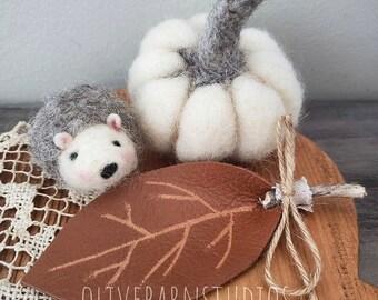 One Tiny Felted Hedgehog