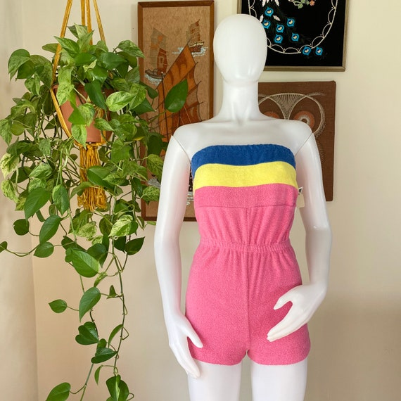 80s Vintage Mark's Things Pink Blue and Yellow Ter