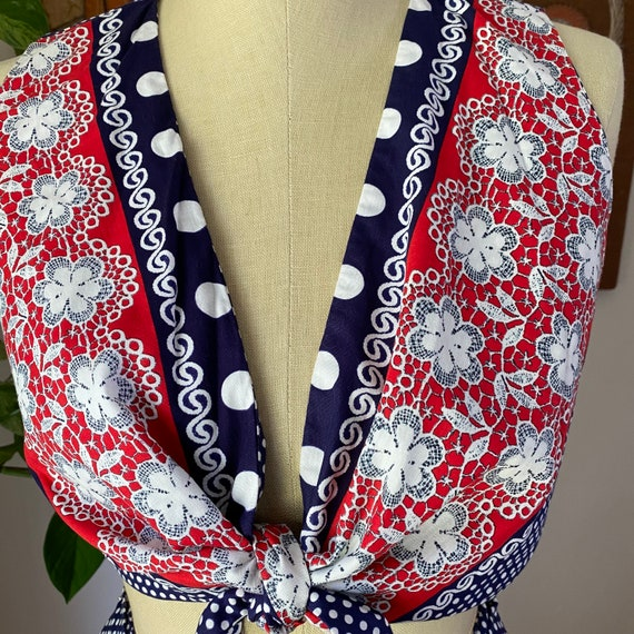 60s 70s Vintage Jr's. by Lounge Craft Navy and Re… - image 3