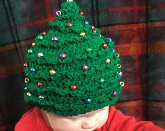 Christmas Tree Hat Holiday Present Crochet Beanie Newborn - Adult 837ef6dbd52
