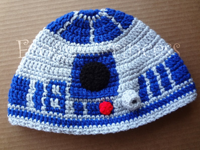 5c15ad7fb51 Star Wars Inspired R2-D2 Hat Adult or Teen Size Hand Crocheted