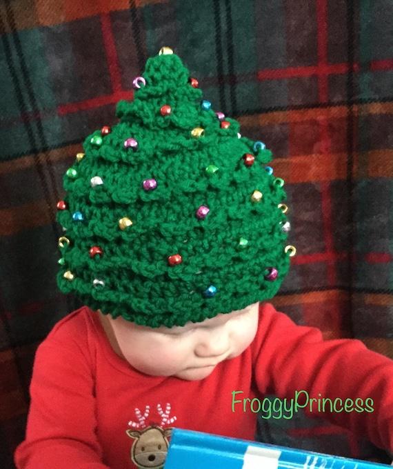 Christmas Tree Hat Holiday Present Crochet Beanie Newborn  82a329af6ffc