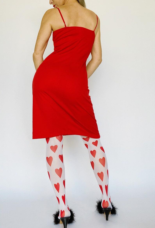 1990s Vivienne Tam red dress Valentines dress women All Size 90s designer dress