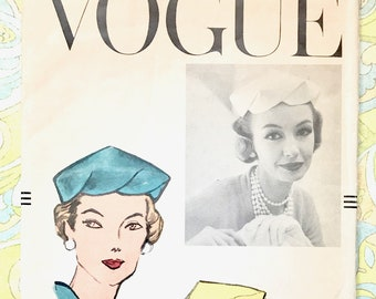 Vintage 1950's Women's Scalloped Edge Hat Sewing Pattern- Vogue 9122