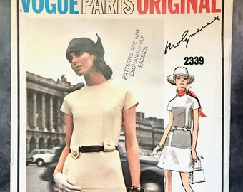Vintage 1970's Molyneux Women's Dress Sewing Pattern - Vogue 2339 - Size 14 (Bust 36)