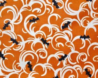 Halloween Bats and Swirls Fat Quarter