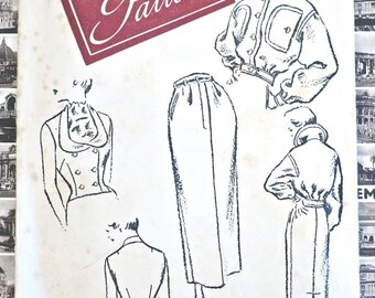 Vintage 1940s Womens Jacket, Skirt Pattern with Fitted Weskit Vest - Womans Day 3253