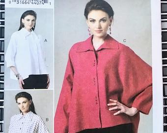 Vogue 8748 - Katherine Tilton Women's Oversize Blouse/Shirt Sewing Pattern