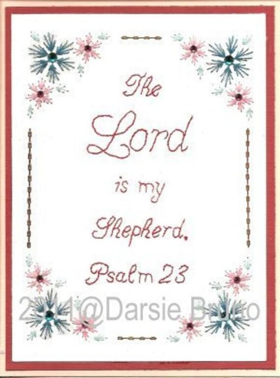 Salmo 23 patrón de bordado de papel de Pascua para tarjetas de   Etsy