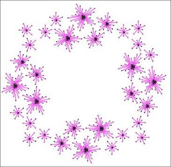 Starburst Wreath toda ocasión papel patron para bordar en un marco para las  tarjetas de felicitación