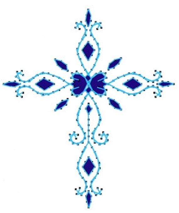 Delicado de cruz patrón de bordado de papel para tarjetas de | Etsy