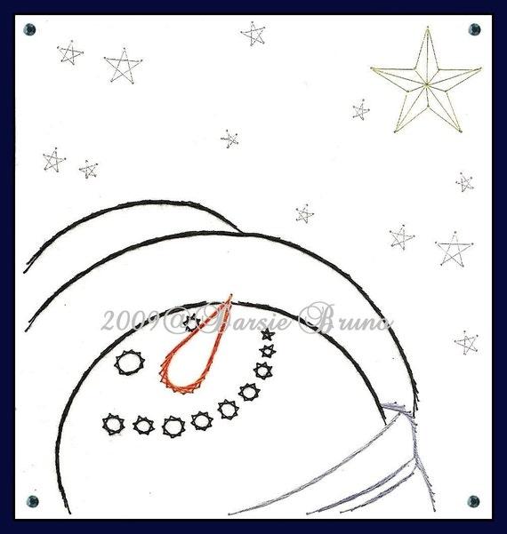 Patrón de bordado de papel estrella muñeco de nieve Navidad | Etsy