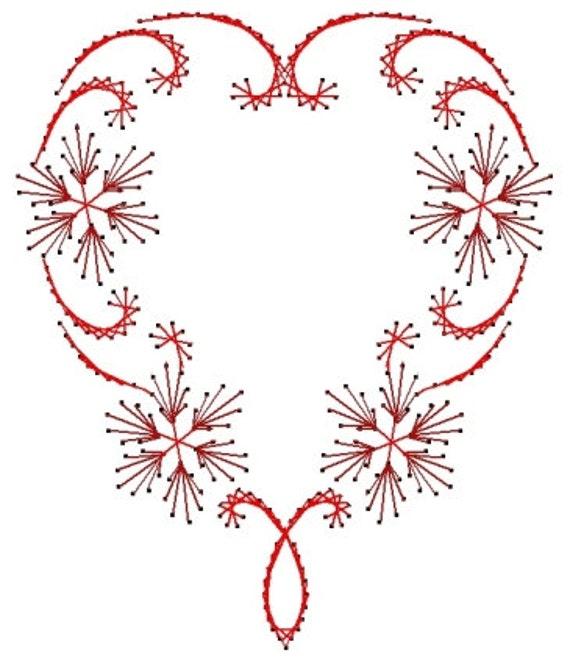 Patrón de corazón remolino San Valentín papel bordado de | Etsy