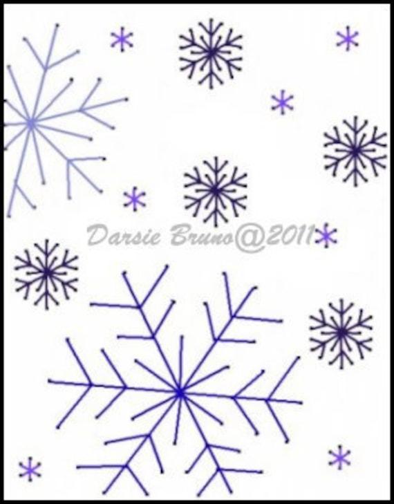 Patron para bordar los copos de nieve nieve invierno Navidad | Etsy